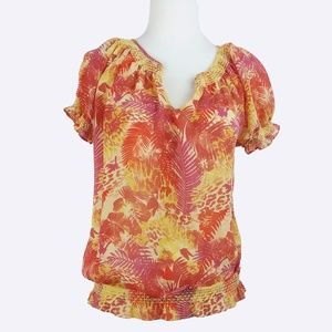 DKNY JEANS Floral Short Sleeve (S)